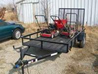 Nice, like new utility trailer. Includes ramp, jack,
