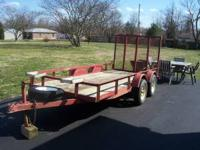 "5 x 12 Utility Trailer tandem axle, 2"" coupler, rear"