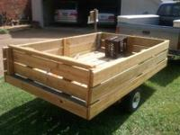 This is a sturdy trailer that is perfect for small jobs