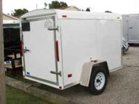 This White MTI Cargo trailer is new, with new Tires and