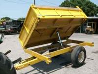 5 X 8 OFF ROAD DUMP TRAILER GOOD TIRES SIDE DUMPS TO