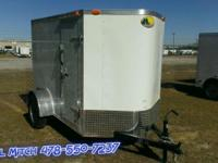5 x 8' Plus Line Enclosed Trailer w/ Ramp - Double Rear