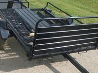 5 x 8 tilt trailer w ramps 5 lugs single Dexter axles
