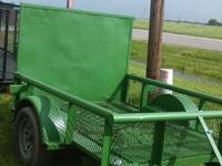 John Deere green 5 x 8 with drop gate.5 lugs mod wheels