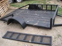 I have some 5 x 8 trailers with ramps that slide into