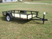 This is a 5'x10' utility trailer with an American made