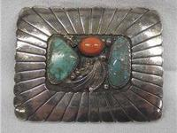 Native American 1920s Navajo Sterling Silver Turquoise