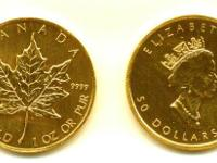 $FIFTY 1oz Gold Canadian Maple.  -- $FIFTY Stated