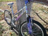 20'' Pacific seven speed mountain bike with front
