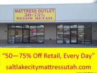 "Utah Mattress Outlet  ""Twice the Mattress, Half"