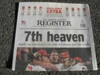...Anaheim Angels World Championship Newspapers from