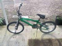 I HAVE FOR SALE A LOOKS TO BE A BMX RACING/ STUNT BIKE.