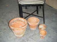 I have 50+ Clay and plastic gardening pots from an