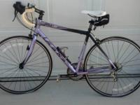 $625 Firm.  Lavendar 50cm Womens Felt Road Bike ZW40.