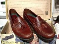 G.H. Bass & CO. Women's loafers, genuine brown leather.