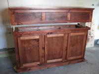 Leak free 50 gallon tank with nice wooden stand! The