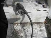 this is a 50 gallon L shaped slip tank with pump and