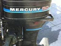 """1983 50 HP MERCURY OUTBOARD, 20 """" SHAFT , ELECTRIC AND"""