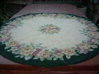 nice 50 inch round rug 11.50  Location: E. Medford