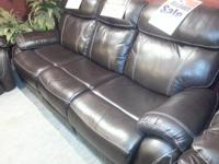 We have these all new reclining sofas for an additional