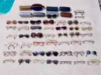 There's over 50 pairs of name brand designer sunglasses