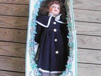 THIS BEAUTIFUL DOLL IS STILL IN ORIGINAL BOX SHE STANDS