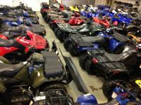 Choose from over 50 pre-owned ATV's @