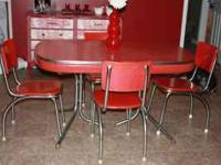 Retro Red 50's dinning table for sale. $350.00 OBO.