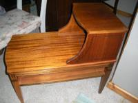 Mahogany Step End Table - has been completely