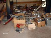 2 truck loads of car parts, mostly 1950's, 1960's and