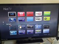 "50"" Phillips TV 1080p smart led. Seldom used. In my"
