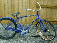 "Bike one- 26"" Sun Cruz by Sun bicycles- Nice neon blue"