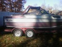 18 feet Cabin Cruiser & trailer, in process of