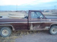 79 chevy 1/2 ton 4x4,350 engine,auto trans,lock out