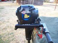 This is a like new outboard. It includes the tank and