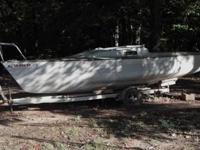 Fiberglass sailboat with trailer. I never pre-owned