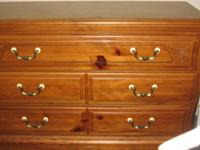 3 drawer dresser offers plenty of room for clothing,