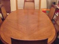 """Wellington Park"" Pecan dining room table set by"