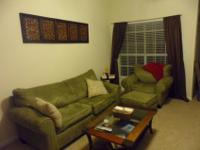 I am selling a sage green microfiber suede living room