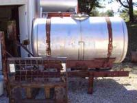 Stainless steel tank. I was going to make a smoker out