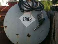 For sale 500 gallon diesel fuel tank with 110 volt pump
