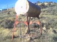 500 GALLON GRAVITY FEED FUEL TANK WITH STAND, NO NEED