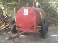 500 Gallon portable gas drum with trailer and pump/