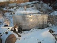 500 gallon stainless steel bulk tank flat top no