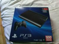 500 gig ps3 . 1 controller all cords and couple racing