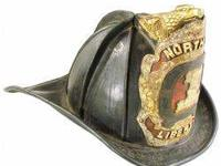 Graticap High Eagle Leather Fire Helmet, 1860. Helmet