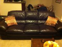 Casual style leather sofa for sale. Excellent condition