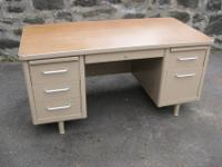 Metal tanker desk built in the 1950s or 1960s. In