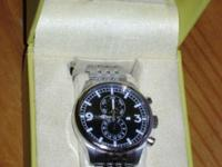 """INVICTA TRITNITE NIGHT GLOW CHRONO ALL STAINLESS STEEL"