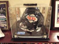 2001 Super Bowl XXXV Championship Ravens Helmet signed